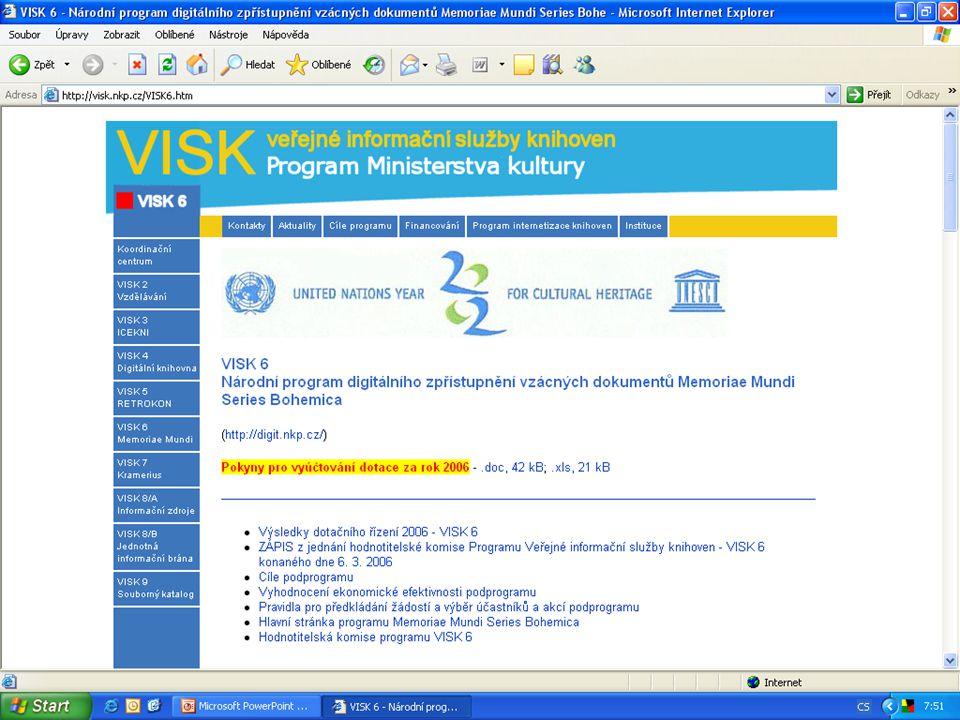 Hodnotitelská komise programu VISK 6 Dr.