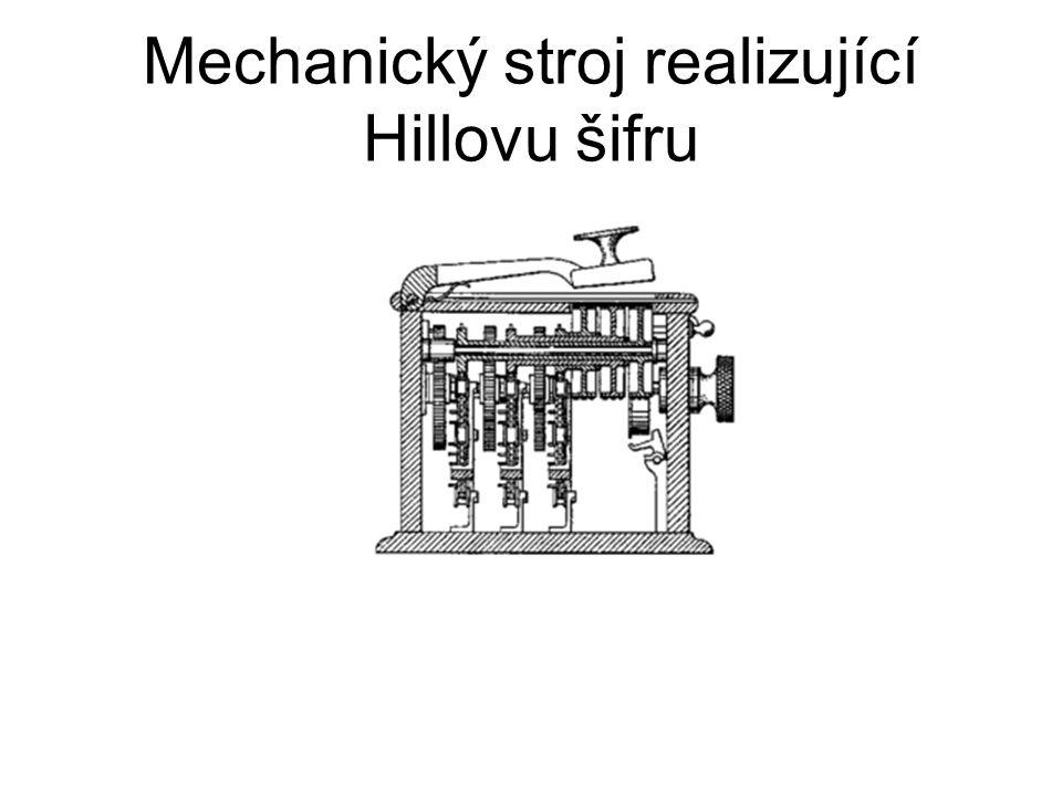 Mechanický stroj realizující Hillovu šifru
