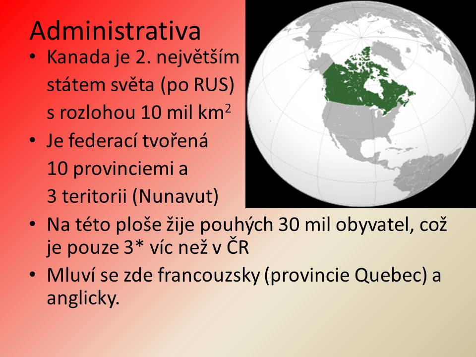 Administrativa Kanada je 2.