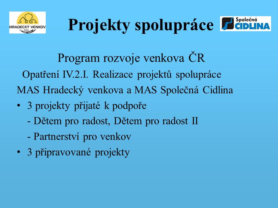 Projekty spolupráce Program rozvoje venkova ČR Opatření IV.2.I.