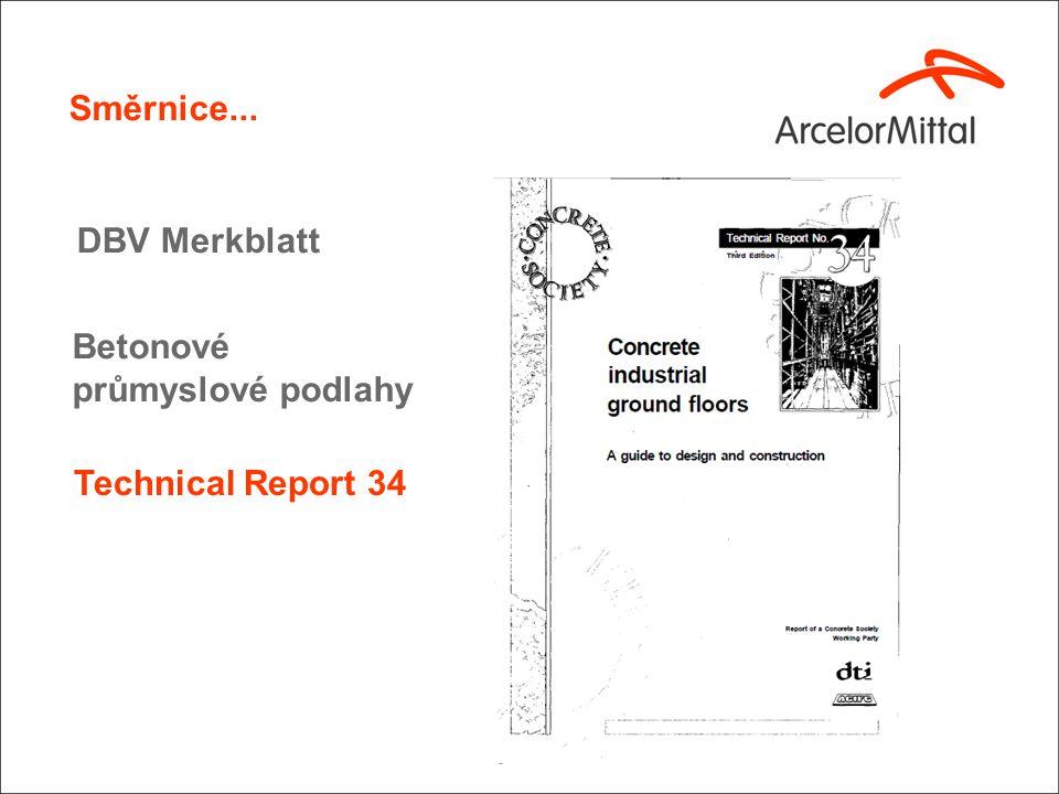 Technical Report 34 Směrnice... DBV Merkblatt Betonové průmyslové podlahy