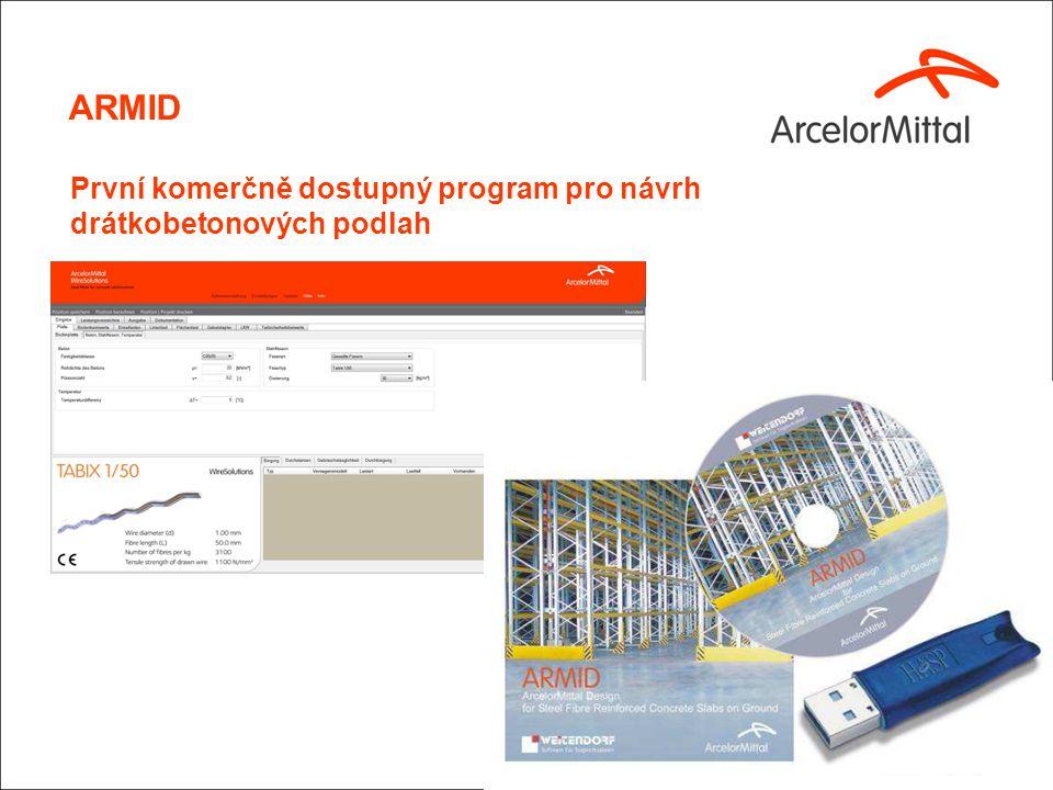 ARMID První komerčně dostupný program pro návrh drátkobetonových podlah