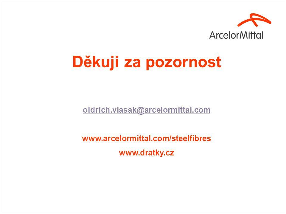 Děkuji za pozornost oldrich.vlasak@arcelormittal.com www.arcelormittal.com/steelfibres www.dratky.cz