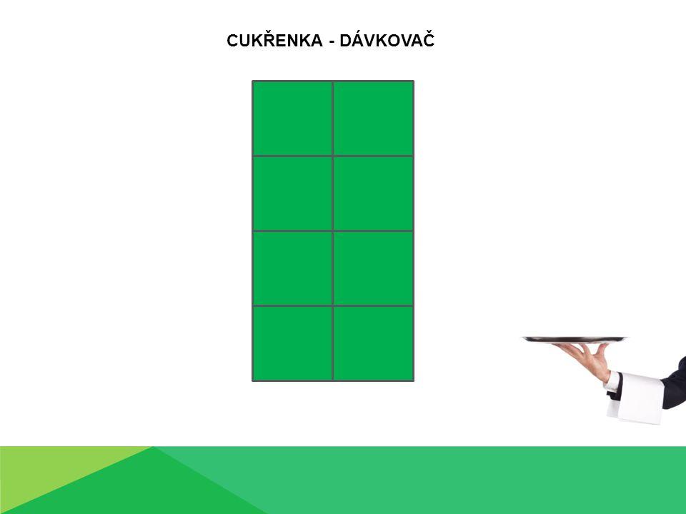 CUKŘENKA - DÁVKOVAČ