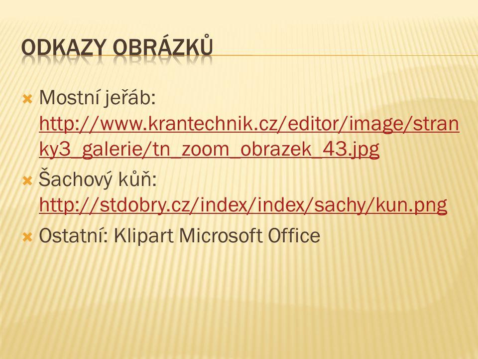  Mostní jeřáb: http://www.krantechnik.cz/editor/image/stran ky3_galerie/tn_zoom_obrazek_43.jpg http://www.krantechnik.cz/editor/image/stran ky3_galer