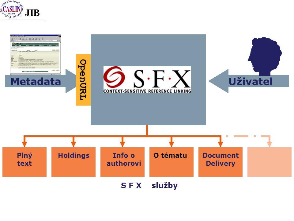 JIB Plný text HoldingsDocument Delivery O tématuInfo o authorovi S F X služby Uživatel Metadata OpenURL