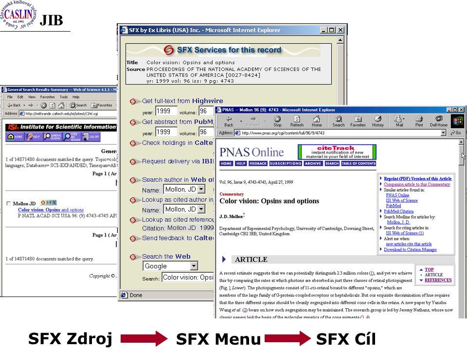 JIB SFX ZdrojSFX MenuSFX Cíl