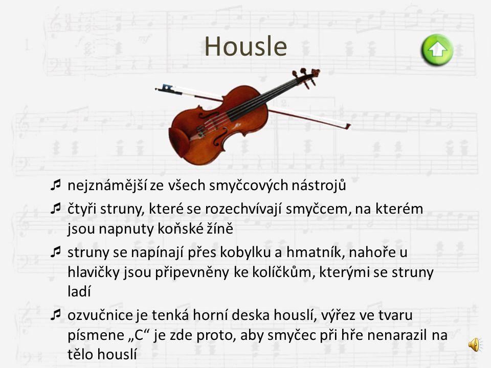 Dřevěné smyčcové housleviola violoncellokontrabas