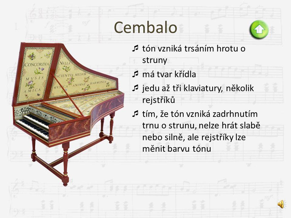 Akordeon  tón vzniká rozechvěním kovových jazýčků proudem vzduchu  vzduch je získáván pohybem měchu  má diskantovou část (klaviatura) a basovou čás