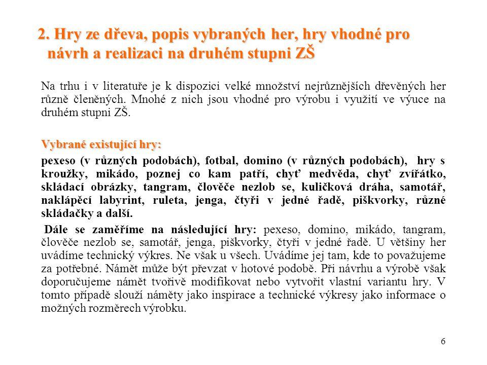 37 Použitá literatura BROKBALS, W.Hry a hračky ze dřeva.
