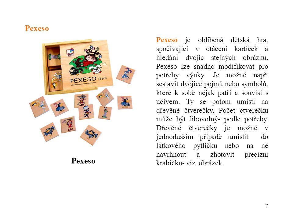 8 Pexeso- výkres destičky 40 7