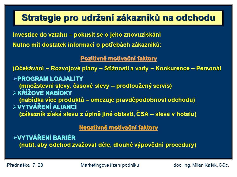 Přednáška 7.28doc. Ing. Milan Kašík, CSc.