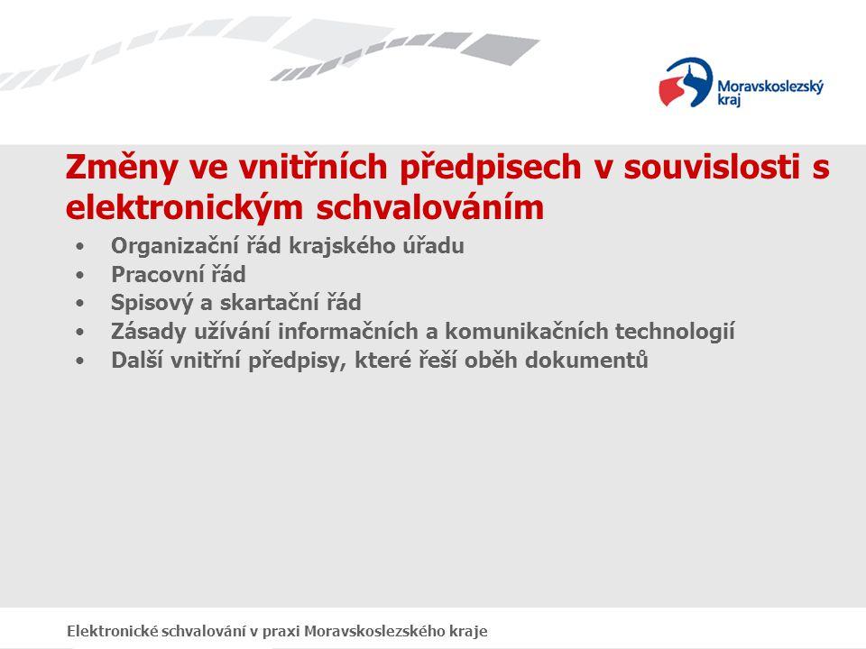 Výchozí podmínky v Moravskoslezském kraji autentizace do systému pomocí čipové karty, používání vnitřního elektronického podpisu, využívání el.