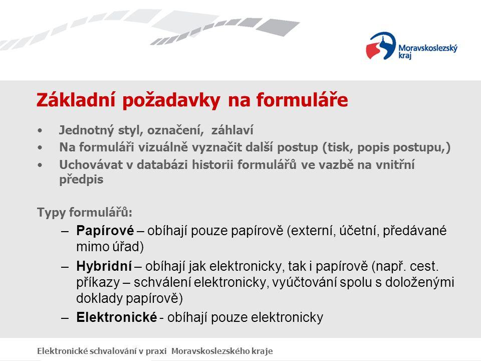 Ukázka výstupu Elektronické schvalování v praxi Moravskoslezského kraje