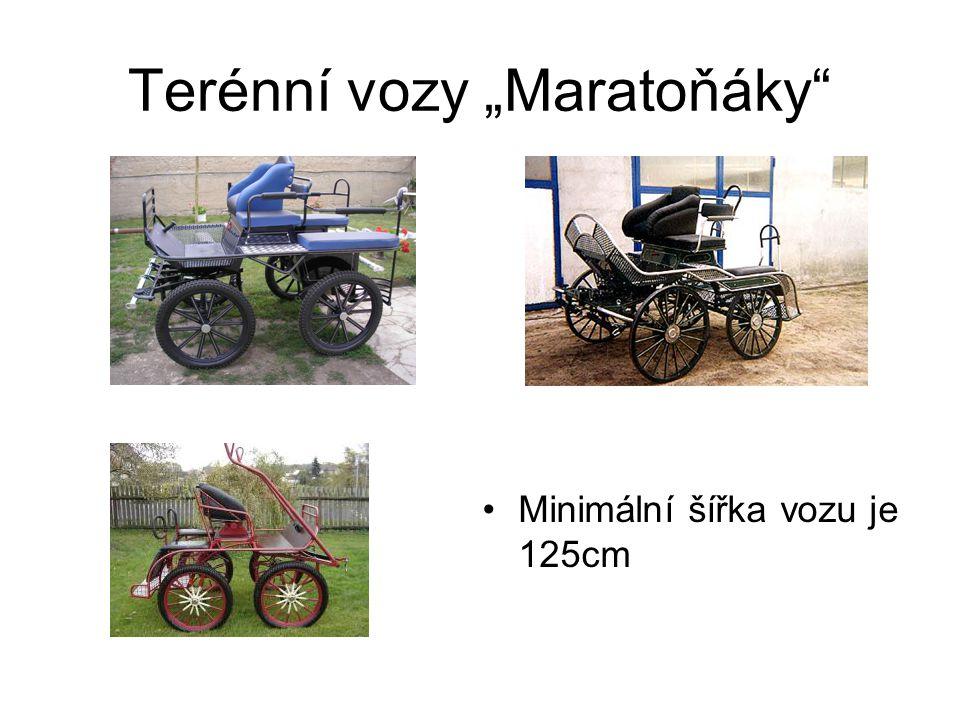 """Terénní vozy """"Maratoňáky"""" Minimální šířka vozu je 125cm"""