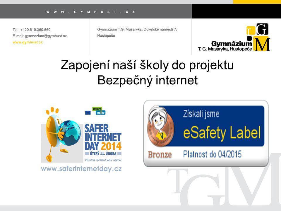 Zapojení naší školy do projektu Bezpečný internet