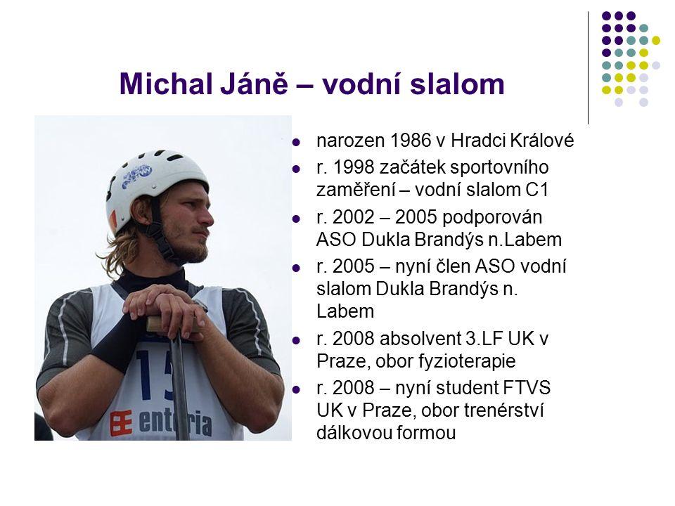 Michal Jáně – vodní slalom narozen 1986 v Hradci Králové r.