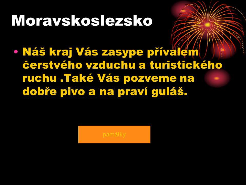 Moravskoslezsko Náš kraj Vás zasype přívalem čerstvého vzduchu a turistického ruchu.Také Vás pozveme na dobře pivo a na praví guláš.