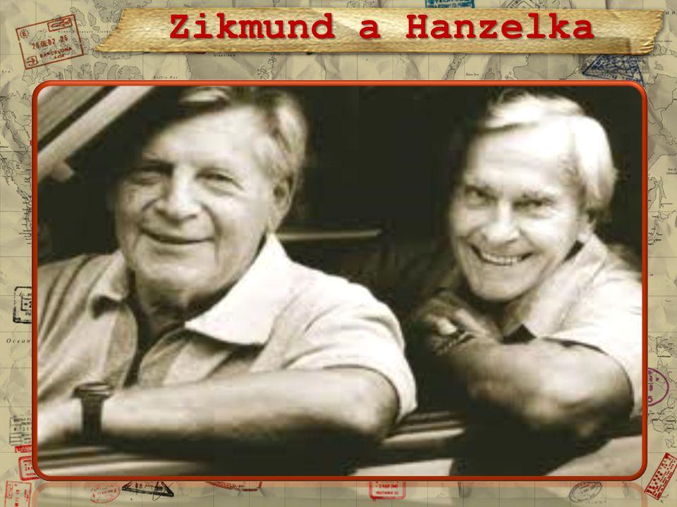 První výprava Hanzelky a Zikmunda se uskutečnila v letech 1947 - 1950, kdy oba cestovatelé s vozem značky Tatra projeli Afriku a Jižní Ameriku.
