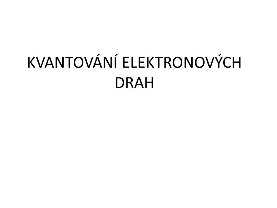 KVANTOVÁNÍ ELEKTRONOVÝCH DRAH