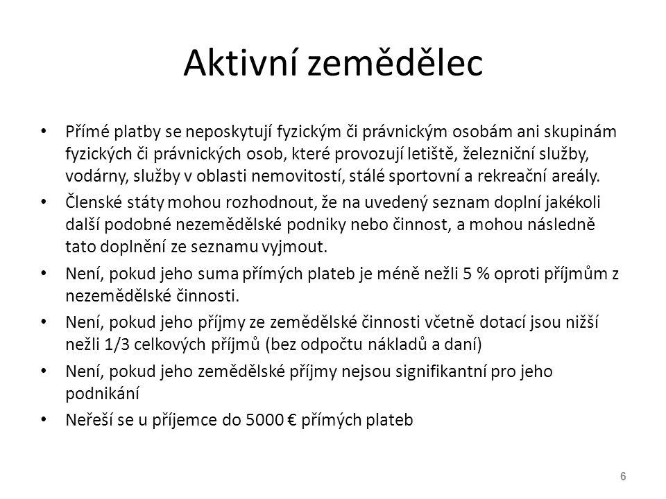 Zemědělská činnost V souladu s čl.4 odst. 1 písm.