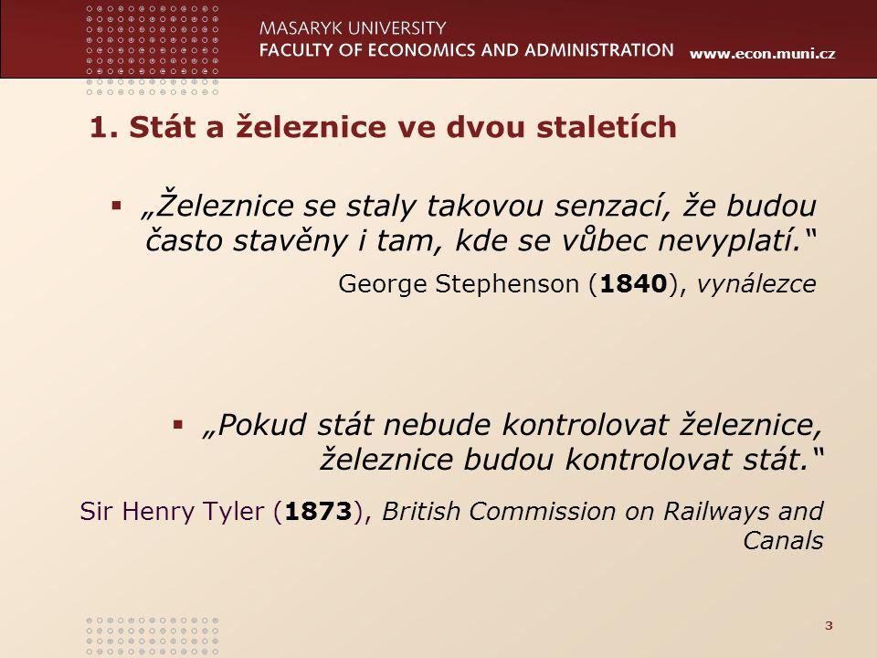 www.econ.muni.cz Poplatek za přístup na cestu (průměr 2014*, €/vlkm) 24