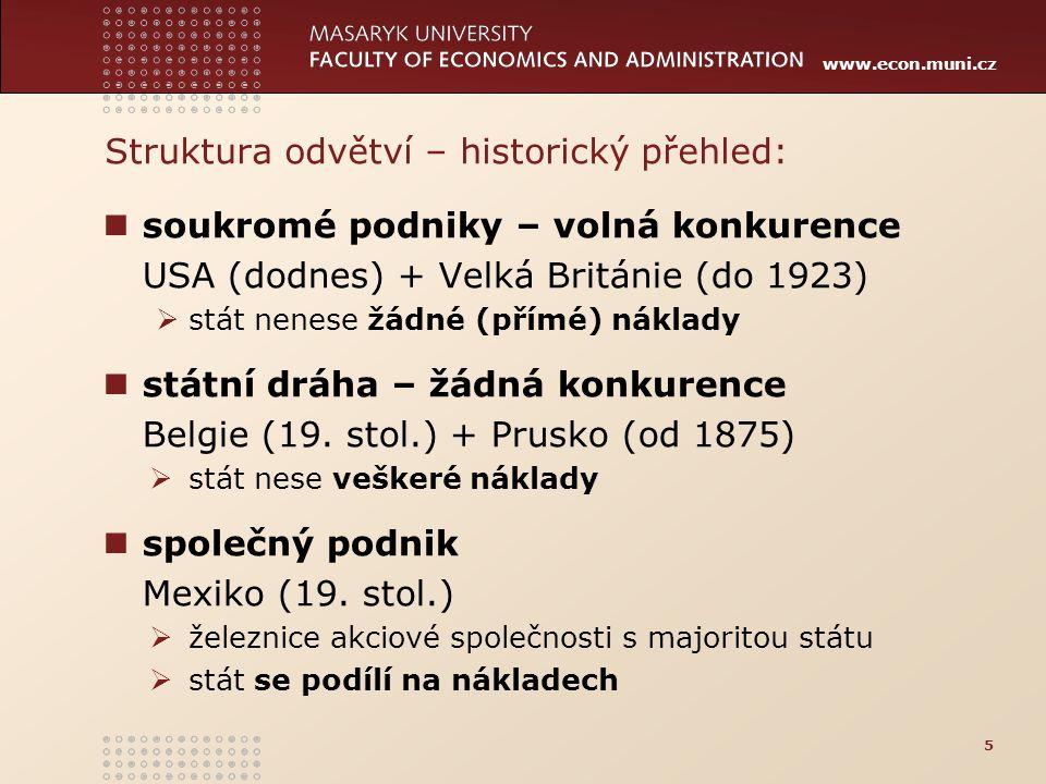 www.econ.muni.cz státní koleje + pronájem provozu Francie (19.