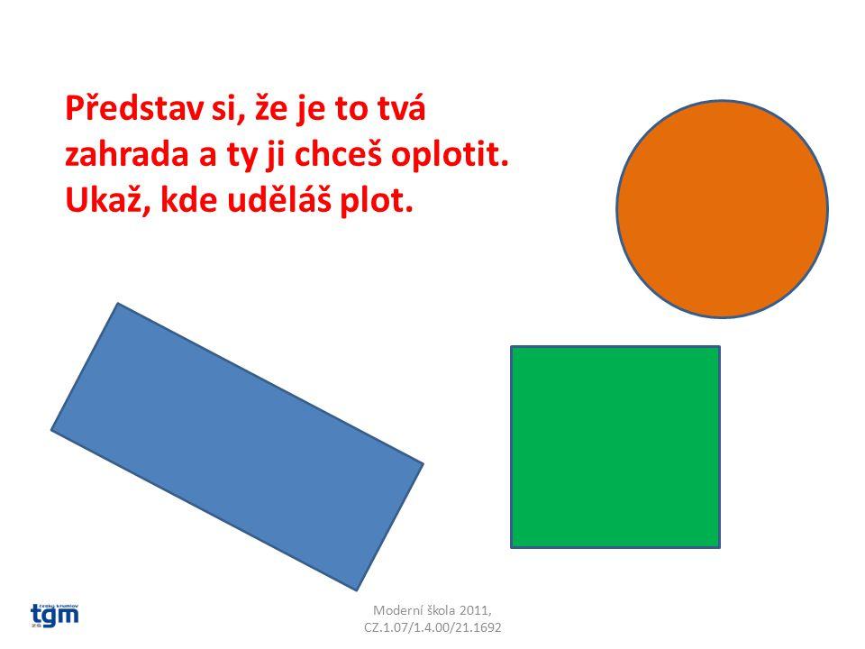 Moderní škola 2011, CZ.1.07/1.4.00/21.1692 Představ si, že je to tvá zahrada a ty ji chceš oplotit.