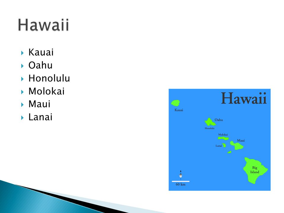  Kauai  Oahu  Honolulu  Molokai  Maui  Lanai