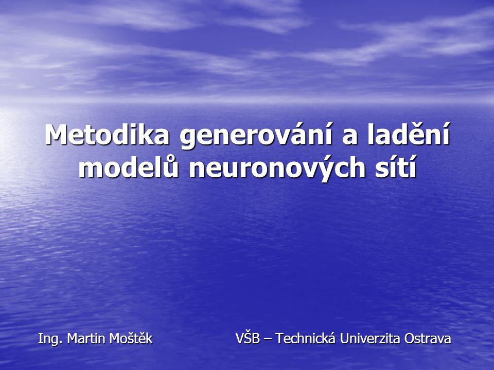 Metodika generování a ladění modelů neuronových sítí Ing.