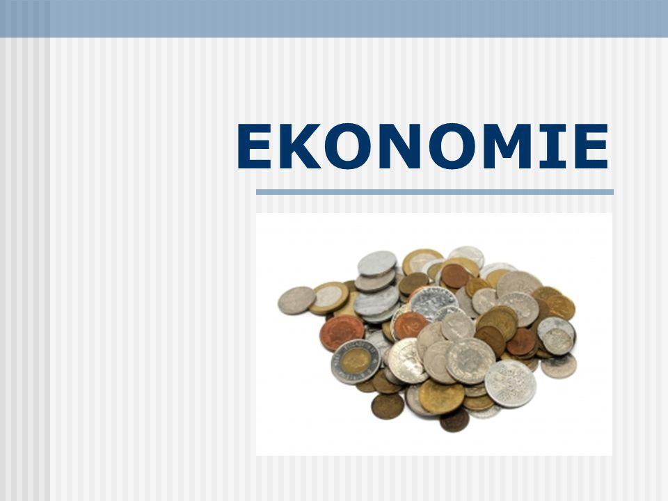 Ekonomie oikonomia: oikos (= dům ), nomos (= ř ídit ) – (=vedení domácnosti) Věda, která zkoumá souvislosti hospodářského života společnosti Věda, zabývající se lidským jednáním ve světě omezených zdrojů a neomezených potřeb Teoretická disciplína Ekonomika Oblast společenské praxe Využívá teoretických poznatků ekonomie Hospodářství, finanční toky, bankovnictví,...