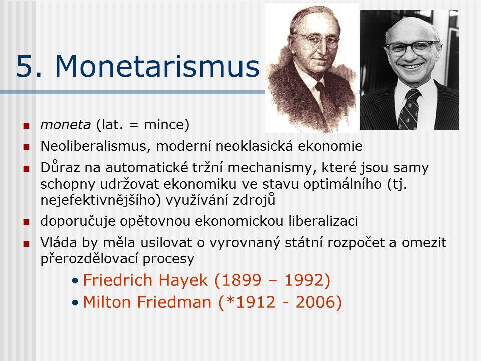 5. Monetarismus moneta (lat.