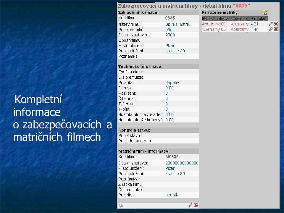 Kompletní informace o zabezpečovacích a matričních filmech
