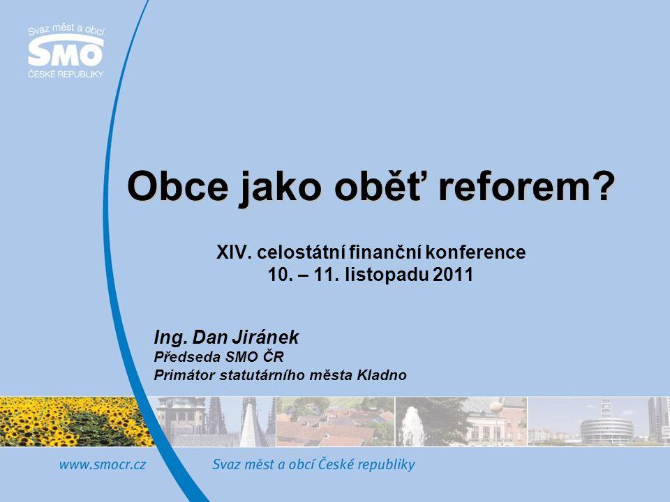 """2 Rozpočtové určení daní - prioritní řešení situace obcí na dně """"U-křivky - úsilí Svazu o podporu formou dotace již v roce 2012 - nelze oddělovat od dopadů dalších zákonů (zvýšení sazby DPH, loterie, místní poplatky, výdaje na přenesenou státní správu, přenos financování veřejných služeb) - snižování dotací nikoliv v souvislosti s RUD, ale redukce deficitu veřejných financí - je RUD téma ekonomické – obce jako respektovaný partner reformy ….nebo politické – obce jako oběť?"""