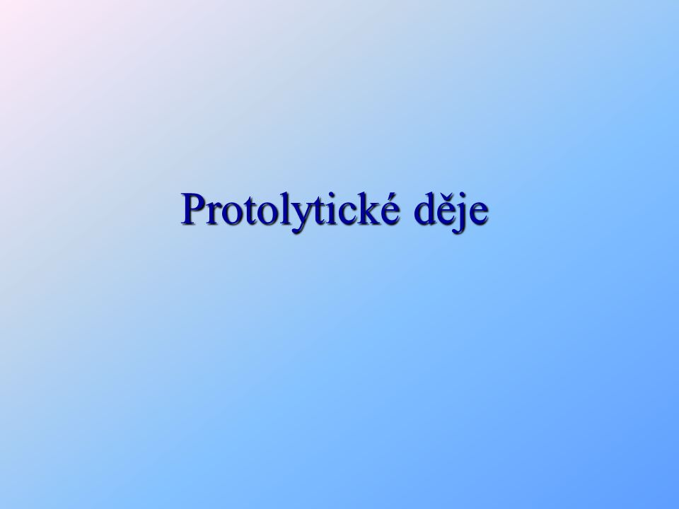 Protolytické děje