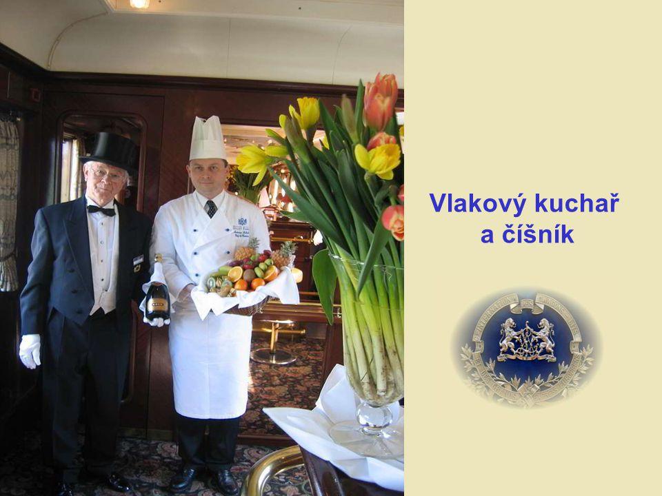Vlakový kuchař a číšník