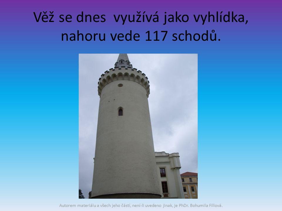 Věž se dnes využívá jako vyhlídka, nahoru vede 117 schodů.