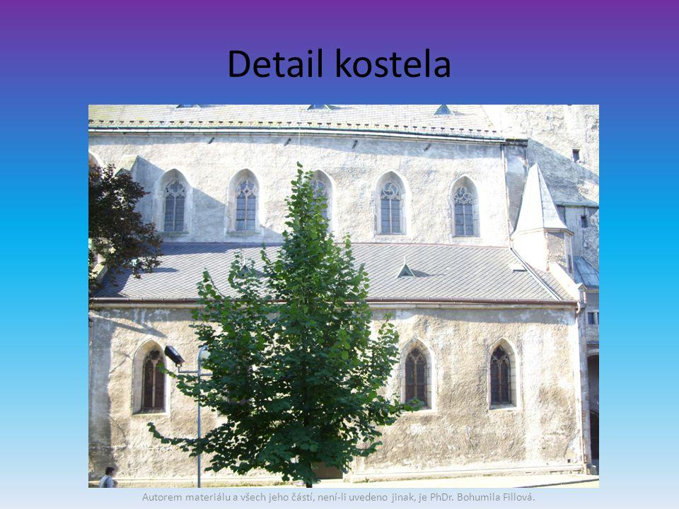 Detail kostela Autorem materiálu a všech jeho částí, není-li uvedeno jinak, je PhDr.