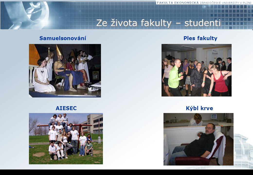 Ze života fakulty – studenti SamuelsonováníPles fakulty AIESECKýbl krve