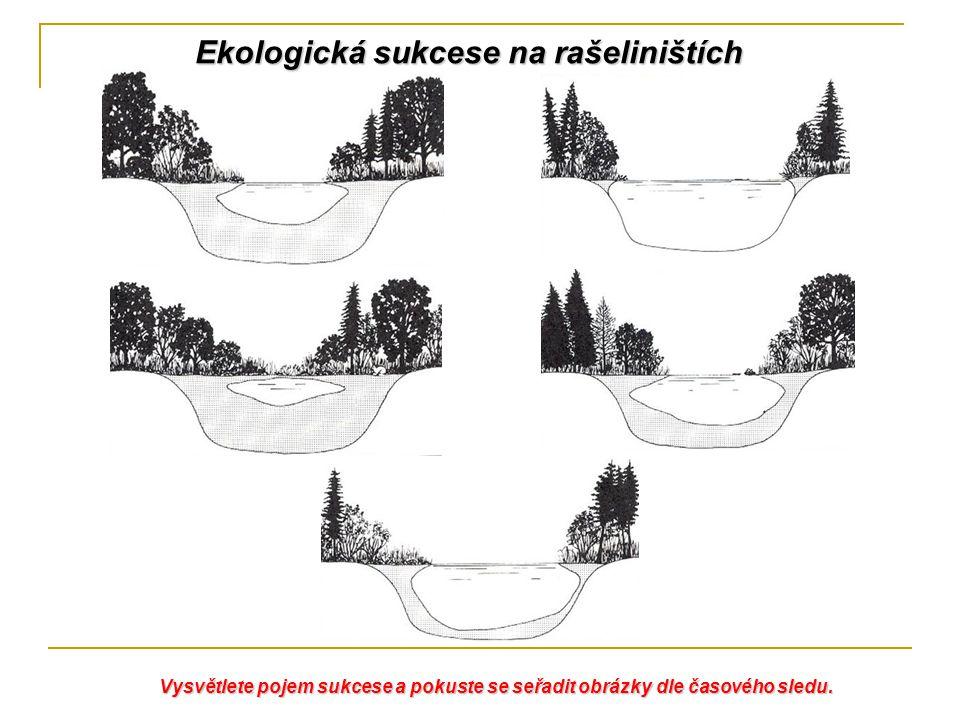 Ekologická sukcese na rašeliništích Vysvětlete pojem sukcese a pokuste se seřadit obrázky dle časového sledu.