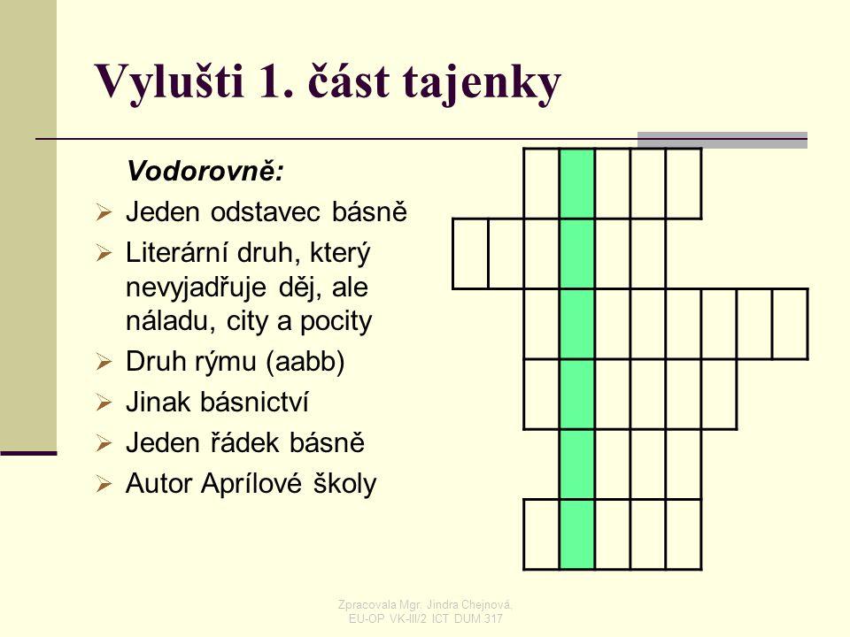 Popelka  Zpracovala Mgr. Jindra Chejnová, EU-OP VK-III/2 ICT DUM 317