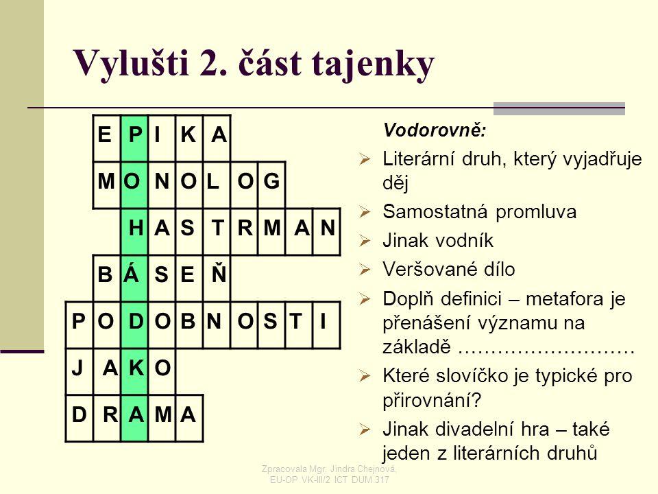 LIDOVÁ POHÁDKA Zpracovala Mgr. Jindra Chejnová, EU-OP VK-III/2 ICT DUM 317