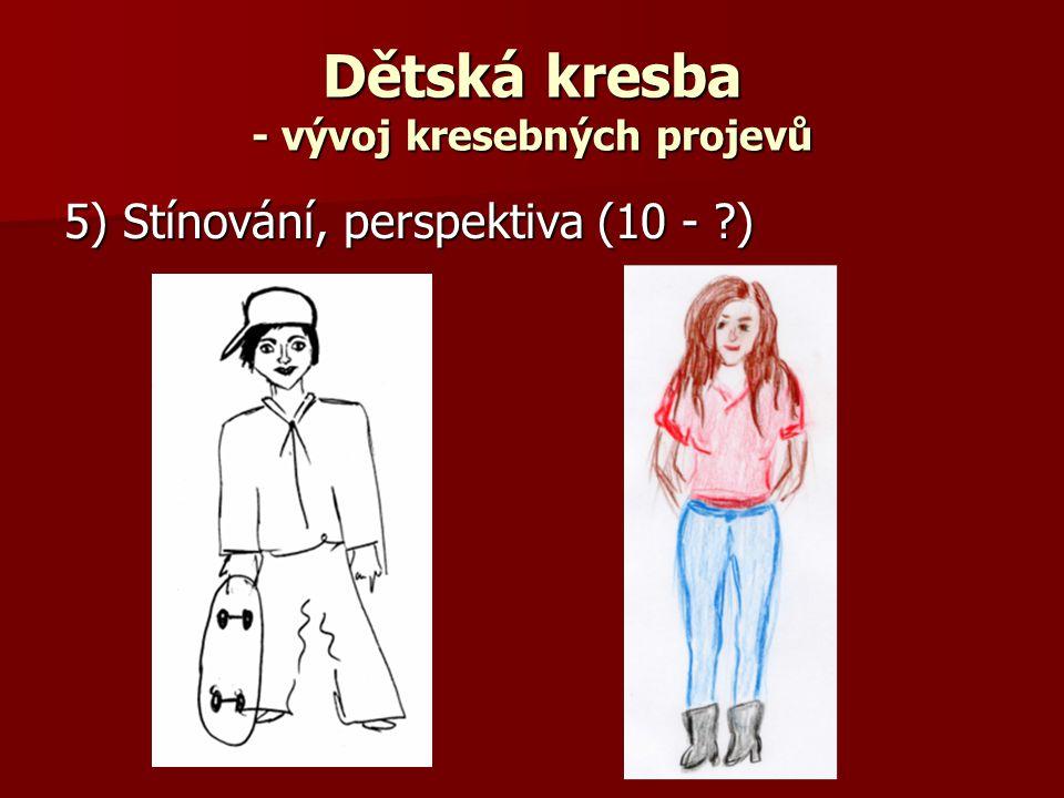 Dětská kresba - vývoj kresebných projevů 5) Stínování, perspektiva (10 - ?)