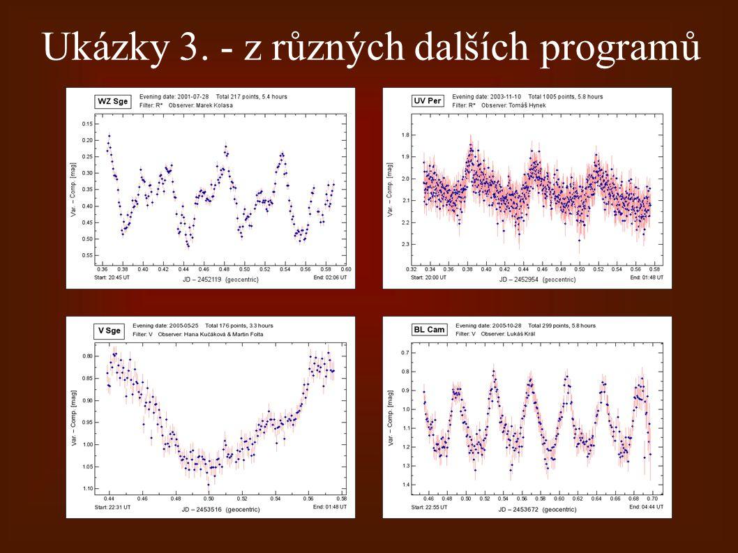 Ukázky 3. - z různých dalších programů