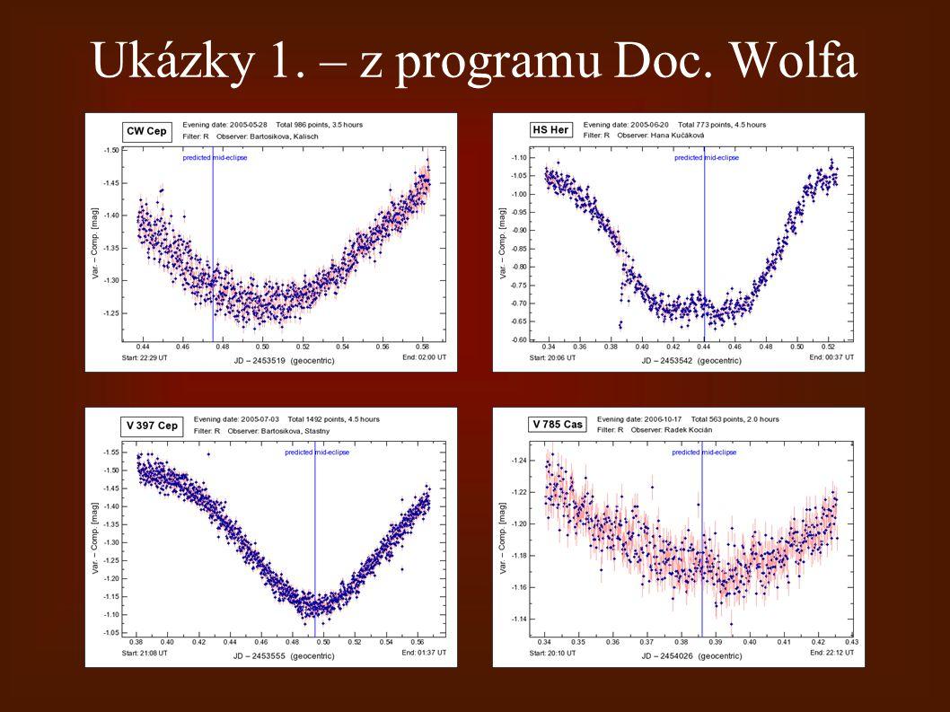 Ukázky 1. – z programu Doc. Wolfa