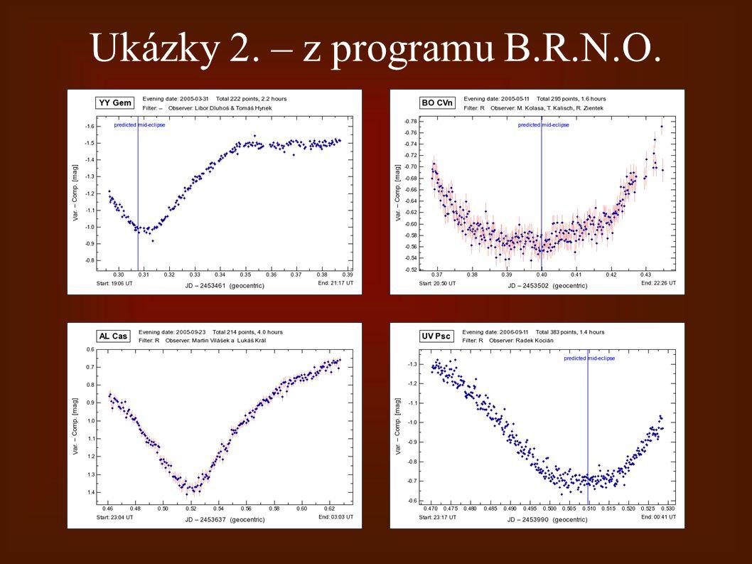 Ukázky 2. – z programu B.R.N.O.