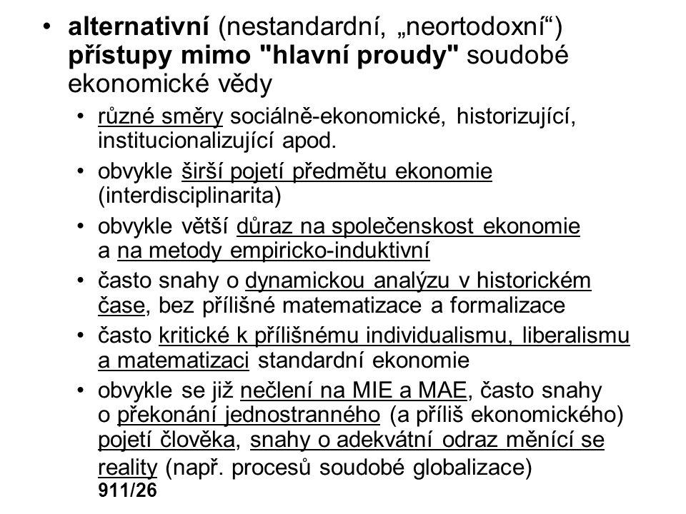 """alternativní (nestandardní, """"neortodoxní"""") přístupy mimo"""