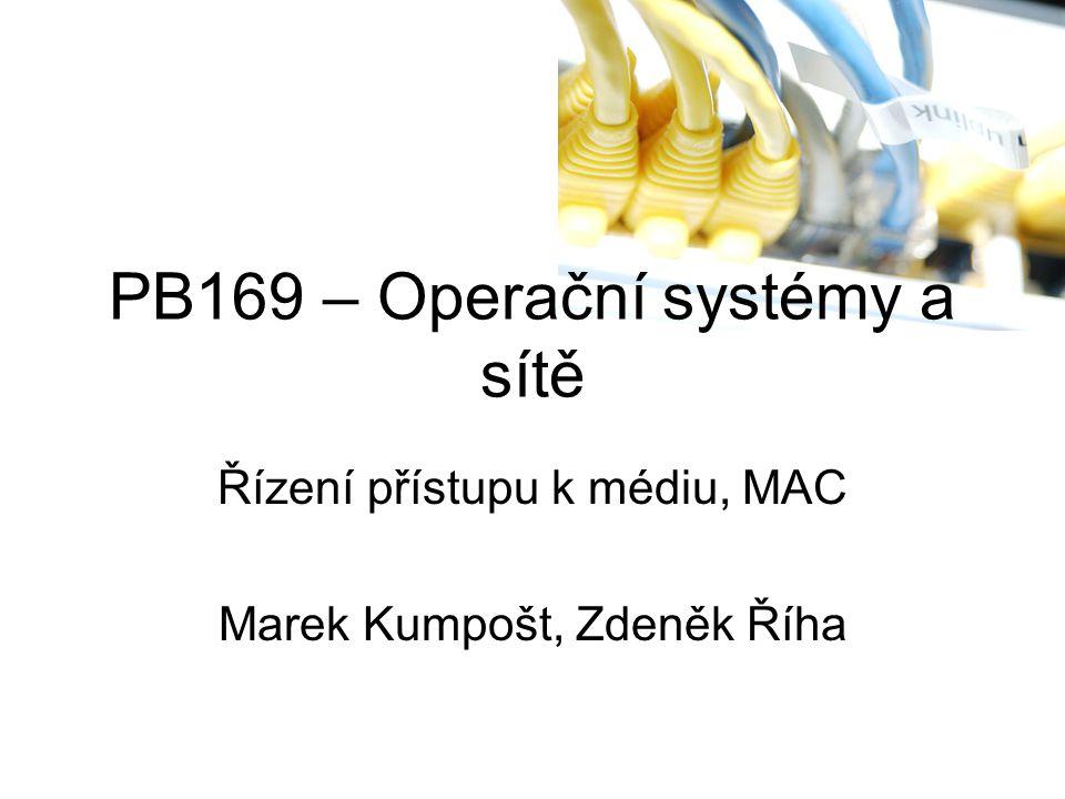 PB169 – Operační systémy a sítě Řízení přístupu k médiu, MAC Marek Kumpošt, Zdeněk Říha