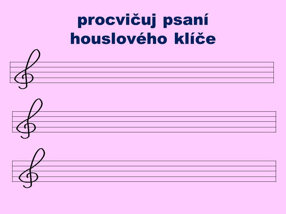 Na začátku každé notové osnovy musí být nějaký klíč. Ten nejčastěji užívaný se jmenuje houslový. Jste zvědaví, kam vás zveme? Poslouchejte chviličku.