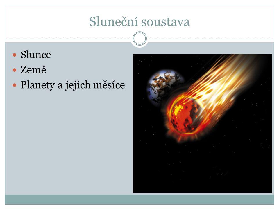 Sluneční soustava Slunce Země Planety a jejich měsíce